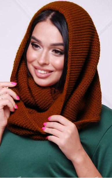 женский вязаный шарф хомут снуд продажа цена в киеве шарфы от