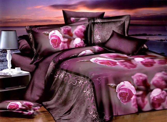 Двуспальный комплект постельного белья евро 200*220 хлопок  (10358) TM KRISPOL Украина, фото 2