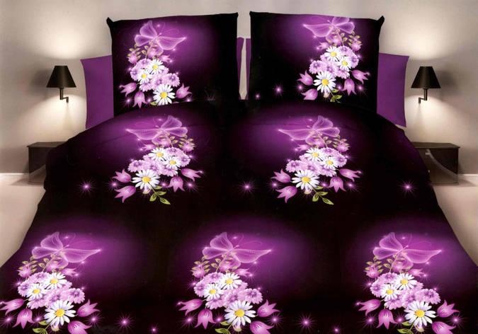 Двуспальный комплект постельного белья евро 200*220 хлопок  (10360) TM KRISPOL Украина, фото 2