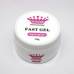 Acryl gel (поли гель)  Master Professional , 15 мл  (Yellowish)