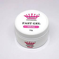 Acryl gel (поли гель)  Master Professional , 15 мл  (White)