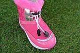 Детские сапоги дутики для девочки розовые р 26 - 30, фото 6