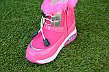 Детские сапоги дутики для девочки розовые р 26 - 30, фото 5