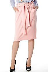 Розовая женская прямая юбка Карли