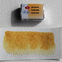 Акварель Белые Ночи Охра желтая (218) кювета 2,5мл, фото 3
