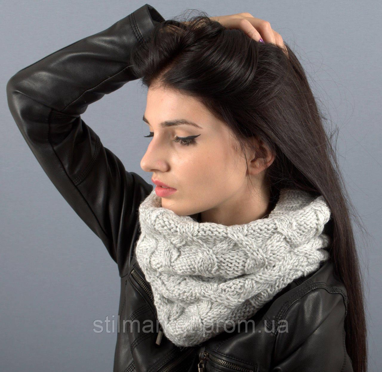 вязаный шарф хомут капелла продажа цена в киеве шарфы от