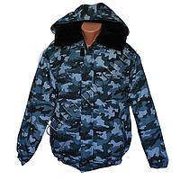 Котоновая зимняя куртка камуфляж на меху 3398 (р-ры 44-62) пр ecb749cbbd576