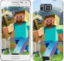 "Чехол на Samsung Galaxy Alpha G850F Minecraft 4 ""2944c-65-328"""