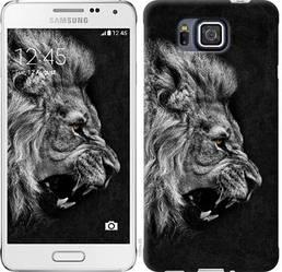 "Чехол на Samsung Galaxy Alpha G850F Лев ""1080c-65-328"""