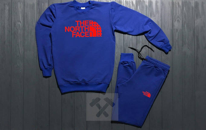 Спортивный костюм без молнии The North Face синий топ реплика, фото 2