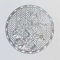 Металл. пластина Лотос  диам. 4  см (3 шт)