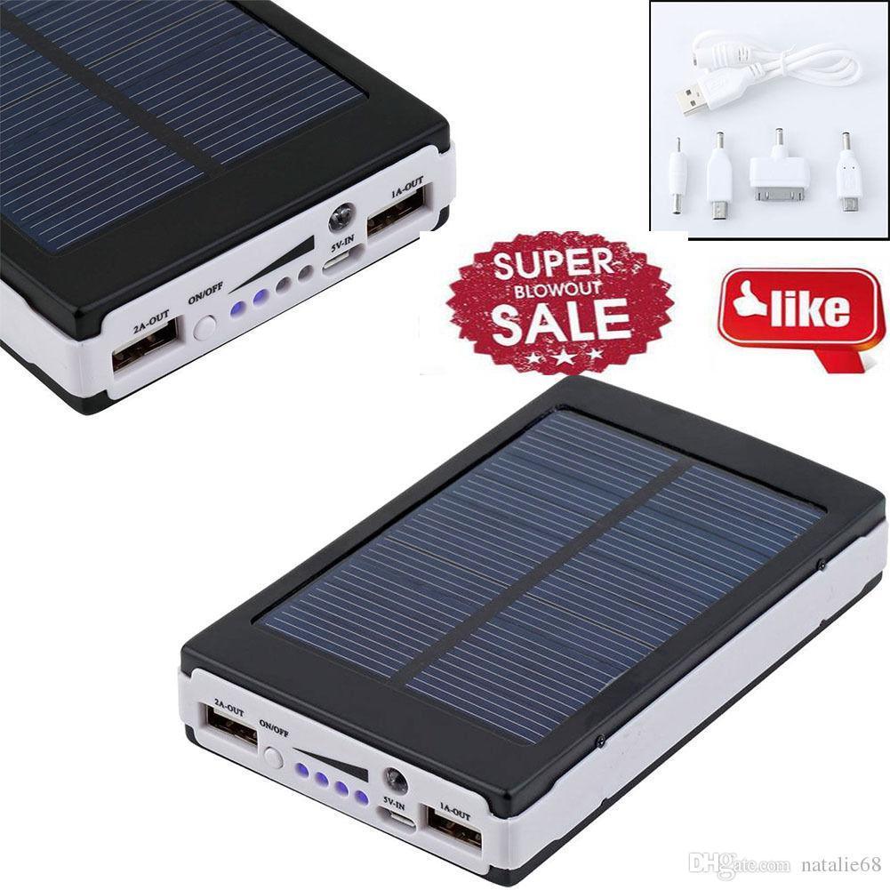 Мощный Solar Power Bank 100000 mAh METAL + СВЕРХЯРКАЯ LED ПАНЕЛЬ! Солнечный Повербанк!