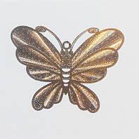 Металл. пластина Бабочка  5*3,7  см (3 шт)