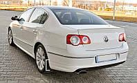 Юбка заднего бампера тюнинг обвес Volkswagen Passat B6 Sedan R-line