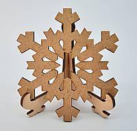 Деревянная новогодняя игрушка заготовка из ДВП  (10шт)