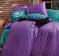 Постельное белье Issimo Home Dawson Purple Двуспальный евро комплект