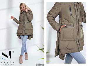 Модная красивая куртка с удлиненной спинкой Размеры: 42-44, 44-46