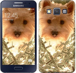 "Чехол на Samsung Galaxy A3 A300H Собака с гирляндой ""4111c-72-328"""