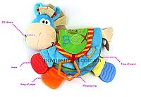 """Мягкая книжка-игрушка """"Лошадка"""" (пищит,шуршит,прорезыватель,кольцо), фото 1"""