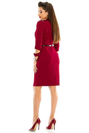 Платье 284 цвета бордо размер 44, фото 2
