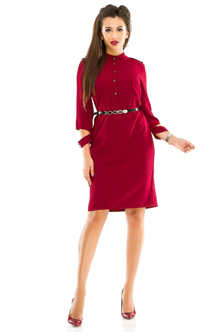 Платье 284 цвета бордо размер 44
