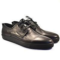 Кожаные кроссовки мужские слипоны Rosso Avangard OrigSlipy Black черные.