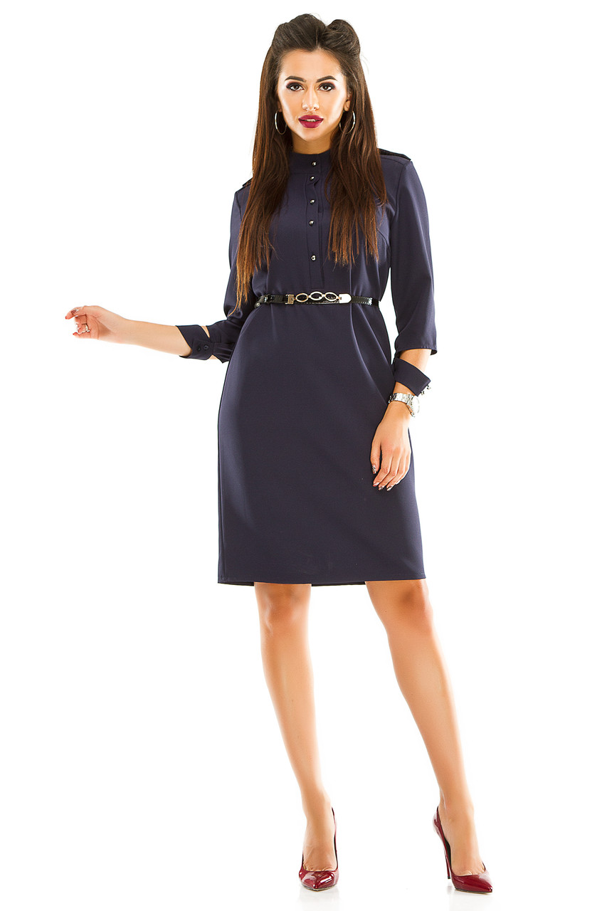 Платье 284 размер 46 темно-синее