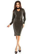 Платье 443 темно-серое размер 46