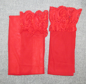 Чулки капроновые красный, фото 2