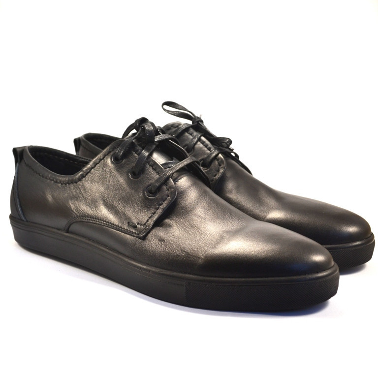 Кроссовки слипоны кожаные обувь большого размера мужская Rosso Avangard BS OrigSlipy Black черные