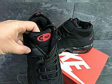 Подростковые кроссовки,термо Nike air max 95 Sneakerboot,осенние,черные с красным, фото 3