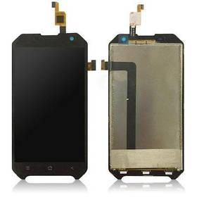 Дисплей (экран) для Blackview BV6000s с сенсором (тачскрином) черный Оригинал