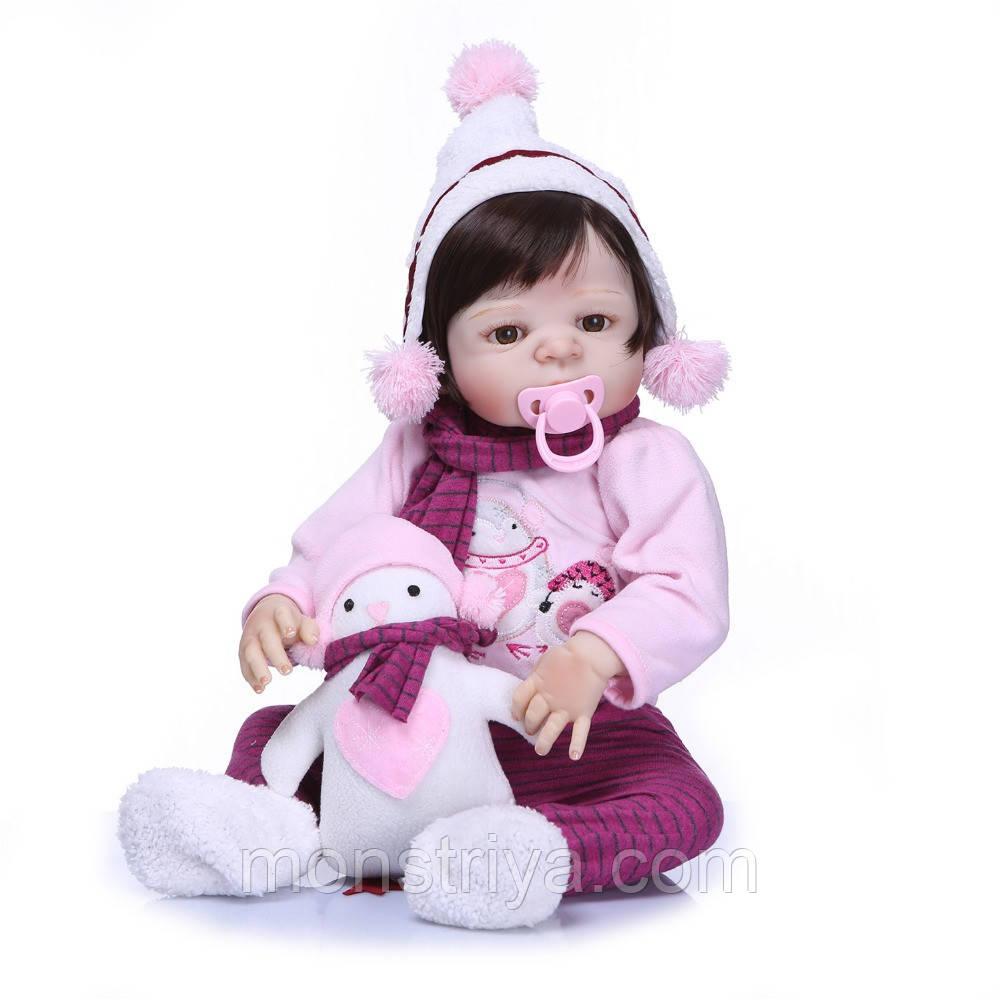 Кукла реборн девочка, полностью из винил-силикона/ Кукла,пупс reborn