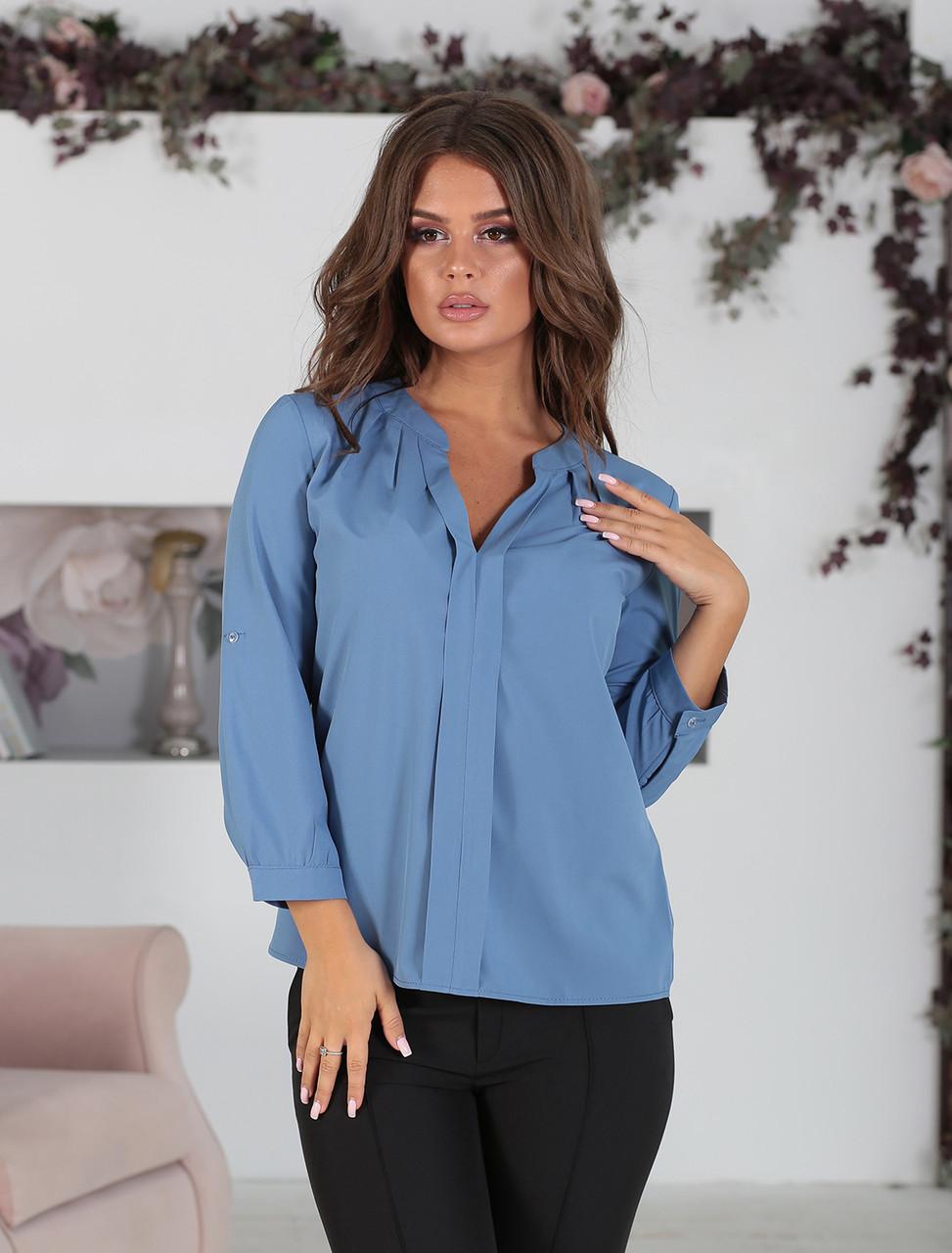 Блузка Лира в цвете джинс
