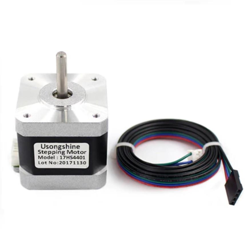 Шаговый двигатель NEMA17  17HS4401 1.7A для 3D-принтера, ЧПУ