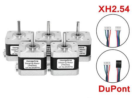 Шаговый двигатель NEMA17  17HS4401 1.7A для 3D-принтера, ЧПУ, фото 2
