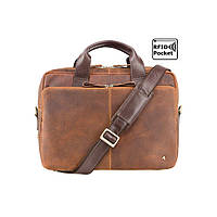 f918ee63d903 Мужская кожаная сумка для ноутбука Visconti TC-82 - Hugo (tan/merlin)