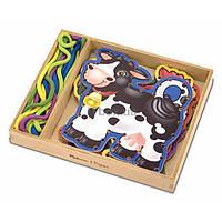Развивающая игрушка Melissa&Doug Шнуровка Ферма (MD3781)