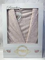 Бамбуковый халат Pupilla M персиковый