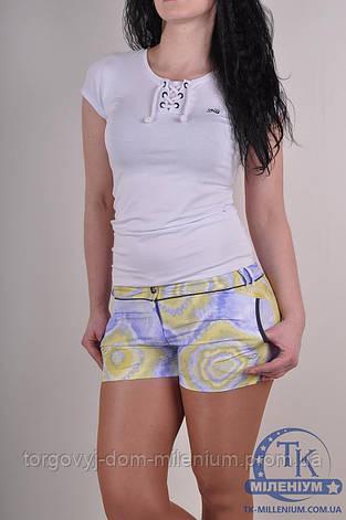 Шорты женские из плащевки Billcee 11Y0488-LP Размер:40,42, фото 2