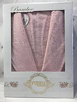 Бамбуковый халат Pupilla XL пудровый