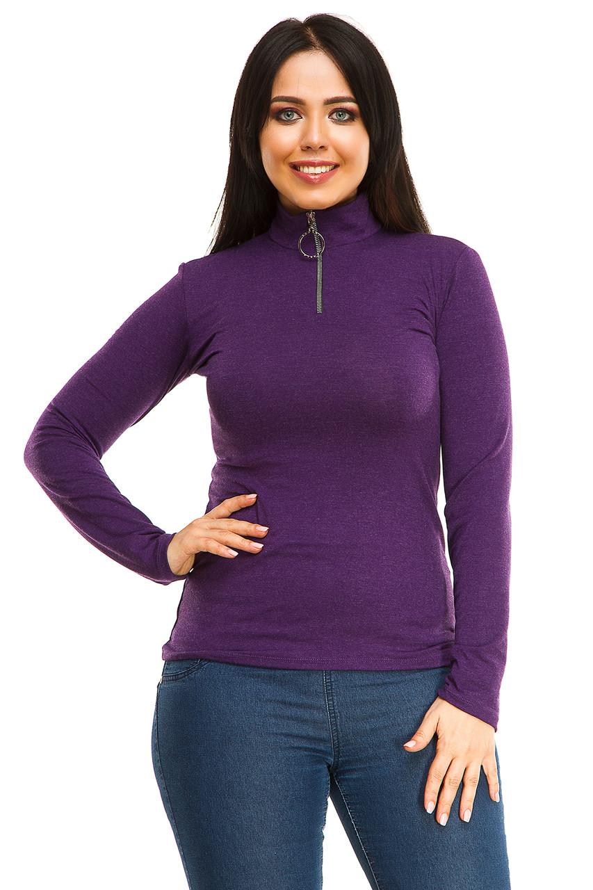 Гольф 5283 змейка фиолетового цвета