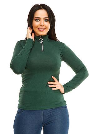 Гольф 5283 змейка зеленого цвета, фото 2