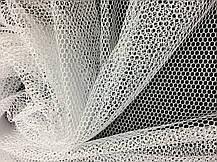 Тюль сетка Арктика Молочный, готовая тюль 3м, фото 3