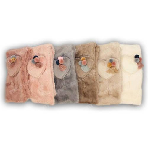 Меховые шарфики для девочки