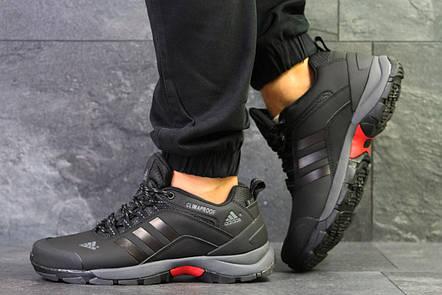 4e8294a8 Мужские осенние кроссовки Adidas Climaproof,термо,черные с серым, фото 2