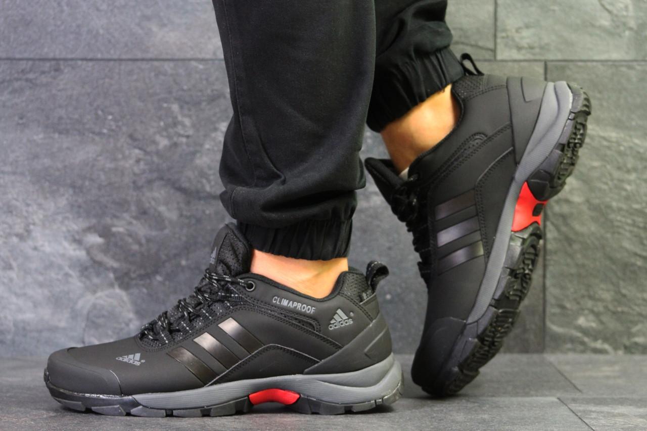 1558f09bc395 Мужские осенние кроссовки Adidas Climaproof,термо,черные с серым ...