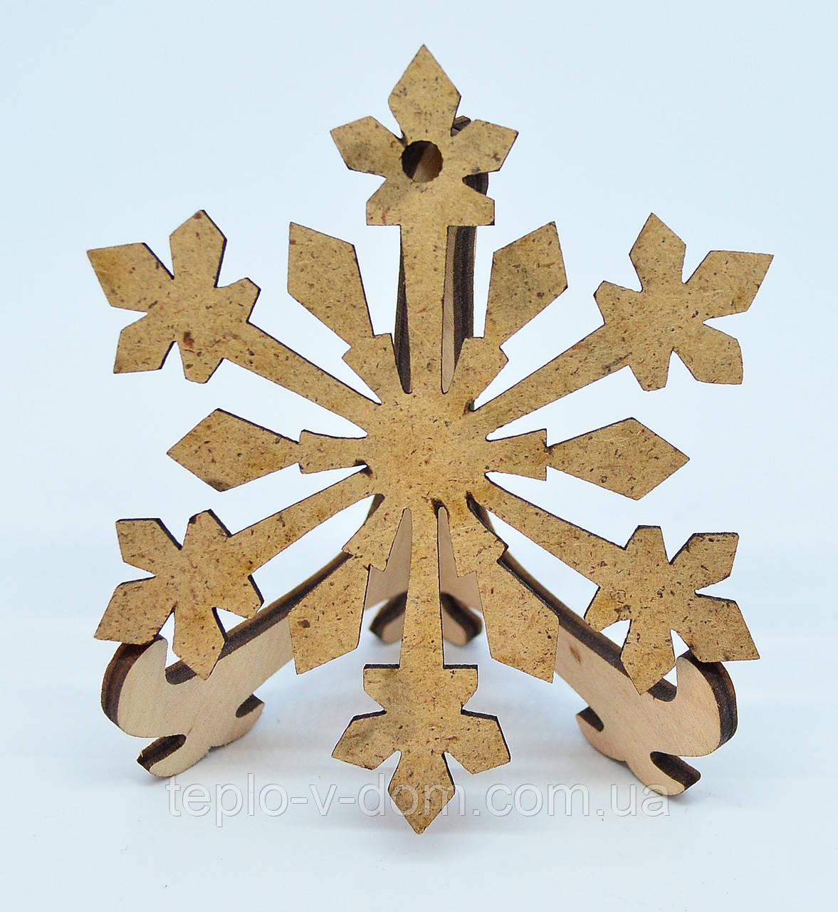 Деревянная новогодняя игрушка заготовка из ДВП