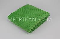 Плюш Minky зелёного цвета 350г/м2  отрез 100*80 № м-37