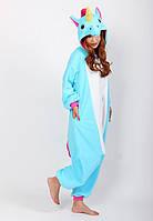 Пижама кигуруми голубой единорог krd0017